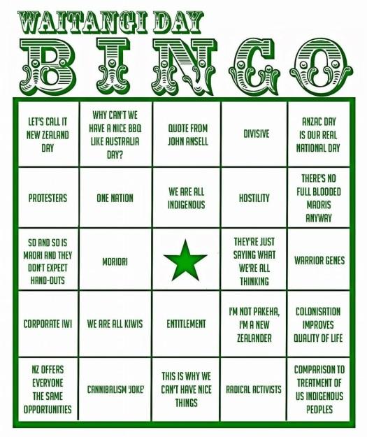waitangi bingo