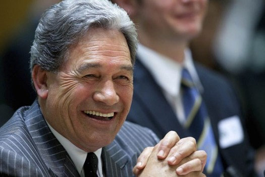 winston peters grinning