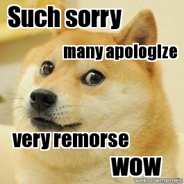 doge apology